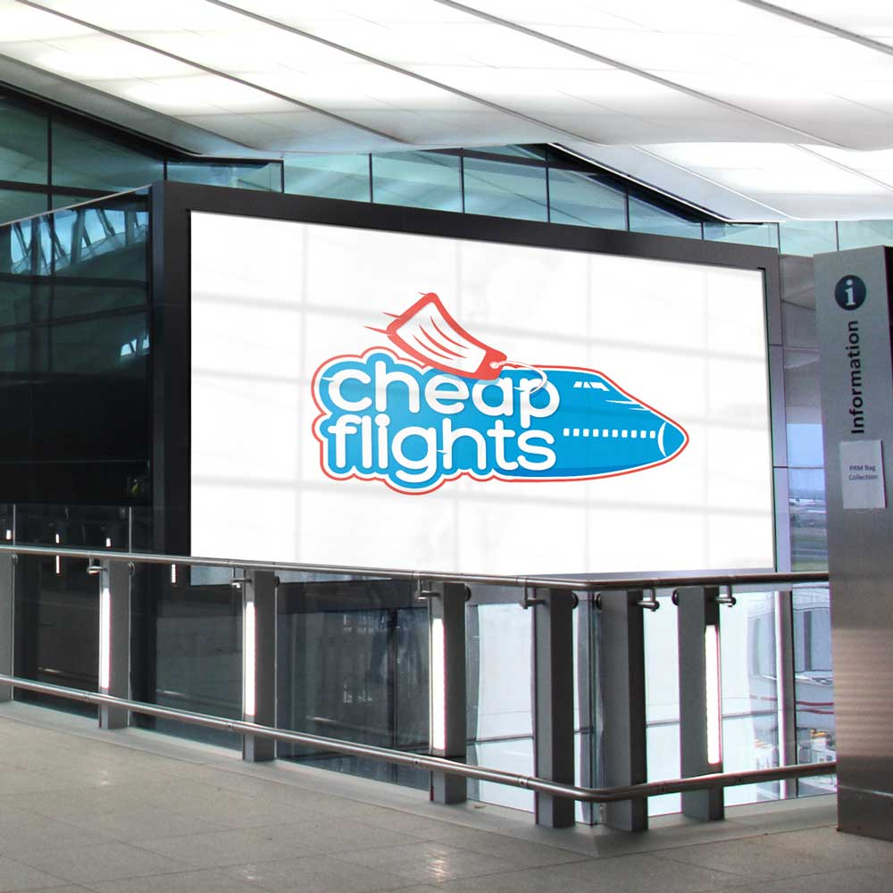 Cheap Flights airline mockup